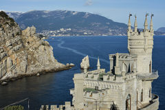 Swallow nest. Swallow's nest on the background of Yalta Royalty Free Stock Images