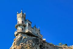 Swallow's Nest. Is a mock-medieval castle near Yalta, in Crimea, Ukraine stock images