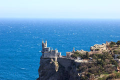 Swallow's Nest. Castle swallow's nest near Yalta, Crimea. Russia Royalty Free Stock Images