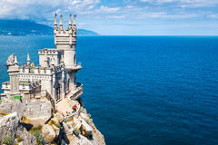 Swallow's Nest castle over the Black Sea in Crimea Stock Photography