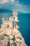 Swallow`s Nest castle over the Black Sea, Crimea Stock Photos