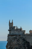 Swallow`s Nest Castle. On the rock in the Black sea stock photos