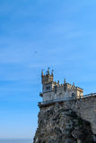 Swallow`s Nest Castle. On the rock in the Black sea royalty free stock images