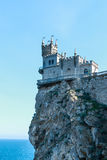 Swallow`s Nest Castle. On the rock in the Black sea royalty free stock photography