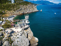 Swallow`s Nest castle on the rock in the Black Sea, Crimea Royalty Free Stock Photo