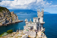 Swallow's Nest castle on the rock in Crimea Royalty Free Stock Photo
