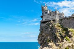 Swallow`s Nest castle in Crimea. Swallow`s Nest castle on the rock over the Black Sea in Crimea, Russia. This castle is a symbol of Crimea royalty free stock photography