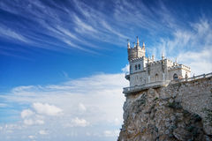 Swallow's Nest castle on the rock over the Black Sea. Gaspra. Crimea. Swallow's Nest castle on the rock over the Black Sea stock image