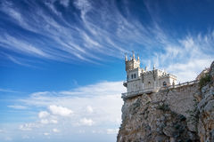 Swallow's Nest castle on the rock over the Black Sea. Gaspra. Crimea. Swallow's Nest castle on the rock over the Black Sea royalty free stock photography