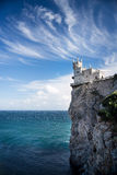 Swallow's Nest castle on the rock over the Black Sea. Gaspra. Crimea. Swallow's Nest castle on the rock over the Black Sea royalty free stock images