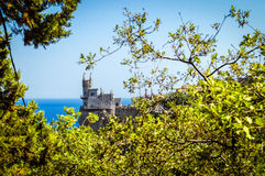 The swallow's nest castle, the symbol of the Crimea Peninsula, Black sea Stock Images