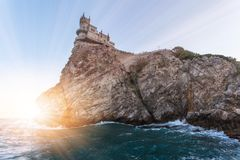 Swallow`s Nest castle. Symbol of Crimea, Russia. Swallow`s Nest castle. Symbol of Crimea stock photos