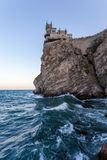 Swallow`s Nest castle. Symbol of Crimea, Russia. Swallow`s Nest castle. Symbol of Crimea stock photo