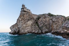 Swallow`s Nest castle. Symbol of Crimea, Russia. Swallow`s Nest castle. Symbol of Crimea royalty free stock image