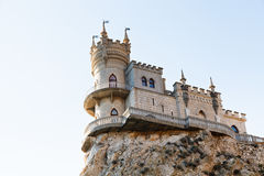 Swallow's Nest castle on top Aurora cliff, Crimea Stock Photos