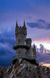 Swallow's nest castle, Yalta, Crimea. Landscape Swallow's nest castle. Crimea stock image