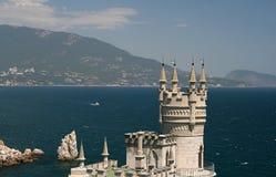 Swallow's Nest (Crimea). Swallow's Nest is a decorative castle near Yalta on the Crimean shore in southern Ukraine Stock Photos