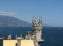 Swallow's Nest (Crimea). Swallow's Nest is a decorative castle near Yalta on the Crimean shore in southern Ukraine Royalty Free Stock Image