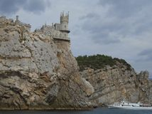 The Swallow`s Nest, Crimea, Russia. The Swallow`s Nest is one of the most popular visitor attractions in Crimea, having become the symbol of Crimea`s southern royalty free stock photos