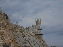The Swallow`s Nest, Crimea, Russia. The Swallow`s Nest is one of the most popular visitor attractions in Crimea, having become the symbol of Crimea`s southern stock photos