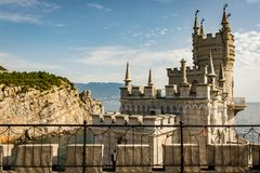 Swallow`s Nest in Crimea. In September royalty free stock photo