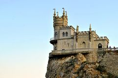 Swallow`s nest. Estate `swallow`s nest` near Yalta in Crimea royalty free stock images