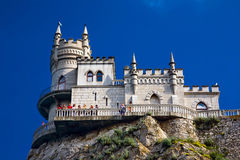 Swallow's Nest Near Yalta royalty free stock images