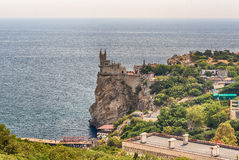 Swallow's nest, scenic castle over the Black Sea, Yalta, Crimea. Swallow's nest, scenic castle and iconic landmark over the Black Sea in Yalta, Crimea Stock Photography