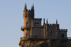 Swallow's nest during sunrise Royalty Free Stock Photo