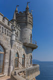 Swallow's nest on top of a cliff near Yalta Stock Photo