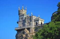 Swallow's Nest. Very beautiful castle, situated on the hill, on the Black Sea Royalty Free Stock Photo