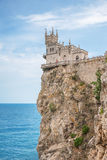 Swallow's Nest. The very famous and popular place to visit. Crimea, Ukraine Royalty Free Stock Photos