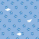 Swallow in the sky pattern Royalty Free Stock Image