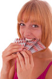 Swallow Tablets Royalty Free Stock Photos