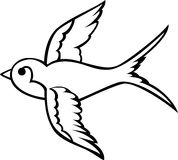 Swallow tattoo Royalty Free Stock Images