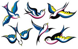 Swallow vintage tattoo Royalty Free Stock Image