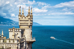 Swallow& x27;s Nest castle on the rock in Crimea Stock Image