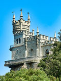 Swallow& x27;s Nest Castle on the South Coast of the Crimea on the Bl Stock Photography