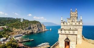 The swallow's nest castle, the symbol of the Crimea Peninsula, Black sea Stock Photo