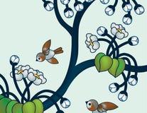 Swallows allegri Fotografia Stock Libera da Diritti