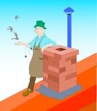 Spazzacamino illustrazione di stock