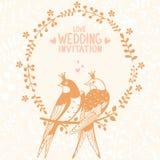 Swallows invitation Stock Photography