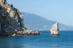 The swallows nest, promontory in the black sea. Near Yalta royalty free stock photos