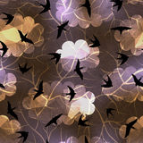 Swallows on night sky background Royalty Free Stock Photography