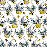 Swallows pattern Royalty Free Stock Photography