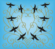 Swallows in the sky Royalty Free Stock Photo