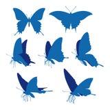 Swallowtail蝴蝶现出轮廓例证 免版税库存照片