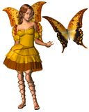 Swallowtail Butterfly Fairy - 1 Royalty Free Stock Photos