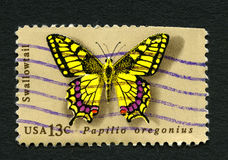 Swallowtail Butterfly USA Postage Stamp Stock Photography