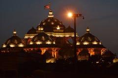 Swami Narayan Temple, Delhi, Indien arkivbilder